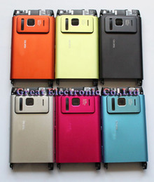 Wholesale Cover N8 Phone - 50pc,Replacement Cellphone full housing repair cover case for nokia n8 mobile phone faceplates+keypad+spare parts,multi-color,free shipping