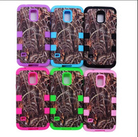 Wholesale Galaxy S3 Camo - Defender Grass Camo Hybrid Silicone Skin With Plastic Shell Cases For iphone 4 4S 5 5S 5C Samsung Galaxy S4 S3 S5 Cell Phone Case by dhl