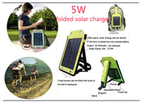 Viagens de acampamento Outdoor High power 5W moible phone folded solar charger Battery Charger bag