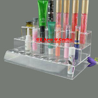 Wholesale electronic cigarette acrylic stand for sale - Group buy Three Layer Acrylic Make up Lipstick Eyebrow Pencil Holder Pen Holder Electronic Cigarette E Cig Display Stand Jewelry Stand