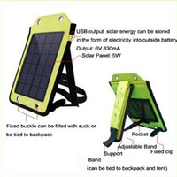 Wholesale Solar Charger Bag For Phone - High power 5W 6V Portable outdoor Folding solar charging bag solar panel charger power bank For Mobilephone Power Bank MP3 4 Camera PSP