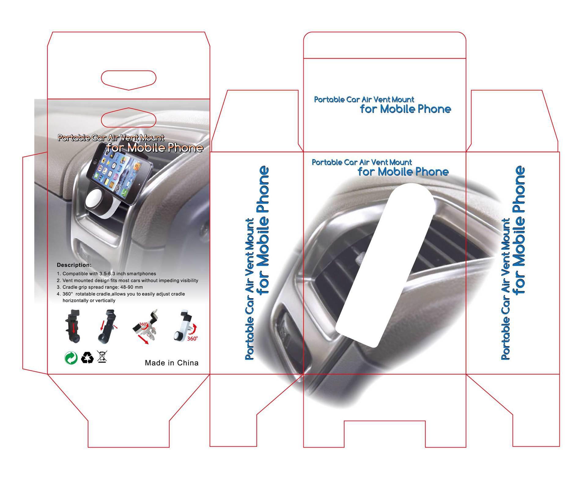 SK226 Draagbare Auto Air Vent Mount Houder voor mobiele telefoon vergelijkbaar voor Kenu-airco /