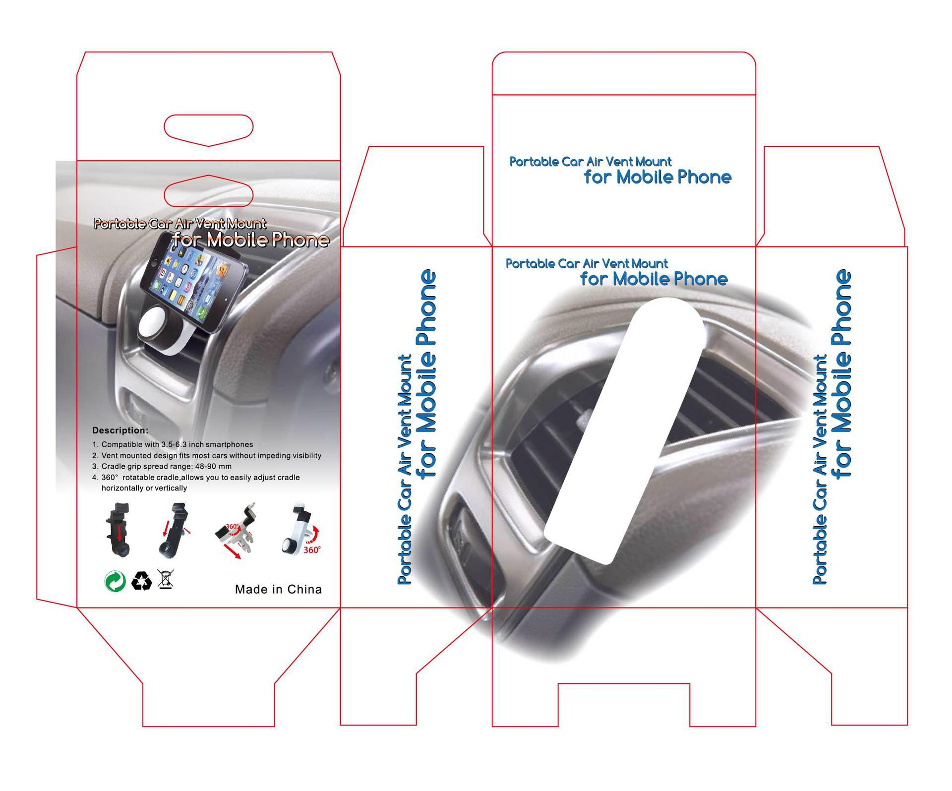 SK226 Przenośny uchwyt do montażu powietrza samochodowego na telefon komórkowy podobny do kenu airframe 50 sztuk / partia