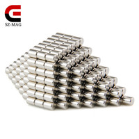 Free shipping 100pcs Strong Round NdFeB Magnets Dia 4x5mm N5...