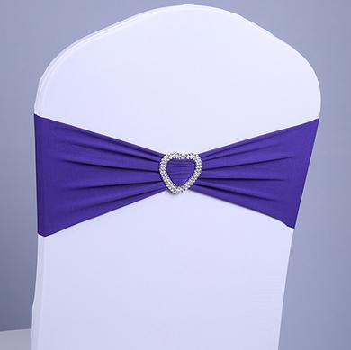 Free EMS DHL Heart Ornament Elastic Wedding Chair Cover Sashes Sash Party Banquet Decoration Decor Bow Colours