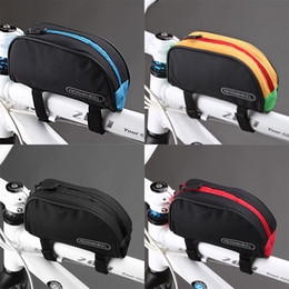Wholesale Bike Bicycle Waterproof - Roswheel 1L Bicycle Cycling Frame Front Top PVC Tube Bag Outdoor Mountain Bike Pouch 12654 H10474