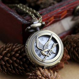 Wholesale Watch Necklace Charms - Vintage Arrow and Love Bird Pocket Watch Fashion Jewelry