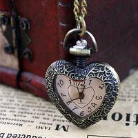 Wholesale Delicate Watches - Novel Design Vintage Fashion Delicate Heart Design Pocket Watch