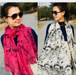 Discount scarves womens spring - Womens chiffon Scarf Neck scarves scarf Sarong wraps shawls 170*55cm 10pc lot #2104