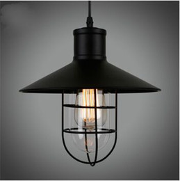 Wholesale Country Works - Vintage Edison Industrial Pendant Lamp Hanging Lighting Loft American Country Restaurant Lamp Wrought Iron Chandelier European Retro