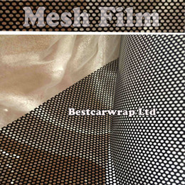 Wholesale flying change - HEADLIGHT TINTING PERFORATED MESH FILM LIKE FLY-EYE MOT LEGAL TINT Both Side black Size 1.07x50meter Free Shipping To UK