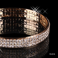 Wholesale Alloy Stock - 2018 Free Shipping ! Beautiful Wedding Bracelets Bridal Jewelry Gold Plated Bangle Cheap on Sale In Stock 15014