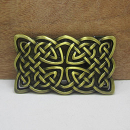 Wholesale Men Belt Buckles Western - BuckleHome Celtic belt buckle western belt buckle with antique brass finish FP-03368-1 with continous stock free shipping