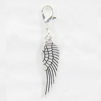 Wholesale charms for origami owl - 2018 Top Fashion Silver Wing Dangle for Origami Owl Living Memory Locket 10 pcs lot FD-046