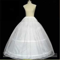 Wholesale Bridal Princess Petticoat - 2015 A-lineHot sale Cheapeat 3 Hoop Bridal Gown Dress Petticoat Underskirt Crinoline Wedding Accessories princess dress petticoat underskirt