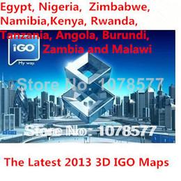 Wholesale Russia Arabic - 3D IGO GPS Africal Maps South Africa, Egypt, Nigeria, Zimbabwe, Namibia,Kenya, Rwanda, Tanzania, Angola, Burundi, Zambia and Malawi