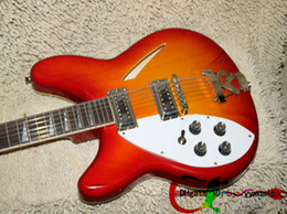Wholesale Semi Hollow Guitar 12 - 12 Strings Left Handed Guitar Cherry Burst 325 330 Electric Guitar Wholesale Guitars 12 Strings