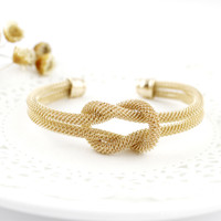 Wholesale European Style Cuffs - Trendy Jewelry  European Style Gold Color One Direction Knot Cuff Bracelets and Bangles For Women