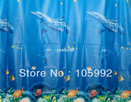 dolphin curtains Promo Codes - Blue Dolphin waterproof mildew shower curtain shower curtain curtain 180 * 180cm Free shipping CPAM