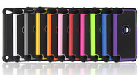 Wholesale Hard Case For Touch 4g - Hybrid Hard Plastic Soft Silicone Dual Protector Football Grain Case Cover for iPod Touch 4 4G 5 5G 5th