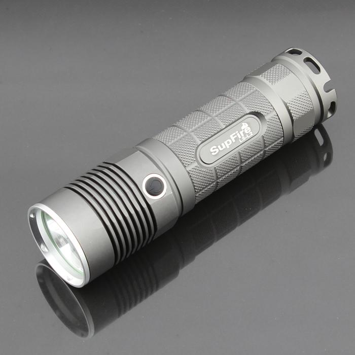 LED Cree XM-L2 Flashlight Supfire L5 1100 Lumens Using 1*26650 or 1*18650 Battery Aluminium Alloy 5 Modes Water Resistant Flashlight Torch