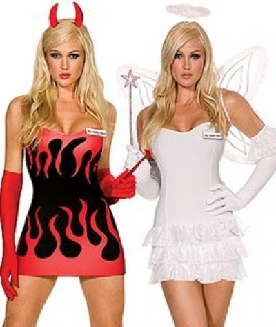 Heavenly Devil Angel Red White Dress Up Halloween Sexy Adult Costume ZT8585 Sexy Devil Costume Sexy Costumes Halloween Costume Ideas Online with ...  sc 1 st  DHgate.com & Heavenly Devil Angel Red White Dress Up Halloween Sexy Adult Costume ...