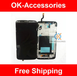 Wholesale Pc Display Panel - 1 PC  Lot Black White Color Touch Screen Digtizer + LCD Display + Frame For LG Optimus G2 D800 D801 D803 Free Shipping