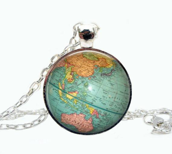Wholesale globe jewelry vintage globe pendant globe art pendant globe jewelry vintage globe pendant globe art pendant teacher gift world travel gumiabroncs Gallery