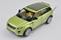 Wholesale Red Toy Jeep - 1:24 Scale Alloy Metal Diecast SUV Car Model For Range Rover Evoque Collection Class Model Toys Car With Sound&Light - Green   Red