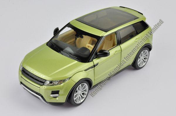 Scala 1:24 in lega di metallo pressofuso SUV modello di auto per Range Rover Evoque Collection modello di auto giocattolo di classe con SoundLight - verde / rosso
