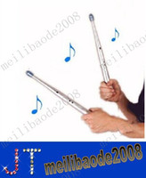 Wholesale Drum Rhythms - Electronic Musical Drumstick Novelty Gift Educational Toy for Kids Child Children Electric Drum Sticks Rhythm Percussion Air Finger MYY1809