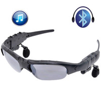 Wholesale Sunglasses Mp3 Player 4gb - New Sunglasses Bluetooth with Headsets Hands free for Smart Cell Phone 4GB MP3 Music Player