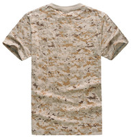 Wholesale Cp Camouflage - Tactical Mens Summer Short Sleeve Camouflage T Shirt Outdoor Cycling Camping Sports T-shirts Army Clothing Airsoft Cotton CP