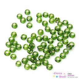 Wholesale Foil Beads - 10 0 Glass Seed Beads Jewelry Making Round Grass Green Foil About 2mm x 2mm,Hole:1mm,150 Grams(18750PCs Bag) (B33605)
