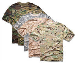 camouflage airsoft clothing 2019 - Tactical Mens Short Sleeve Camouflage T Shirt Outdoor Cycling Camping Sports T-shirts Army Clothing Airsoft Cotton