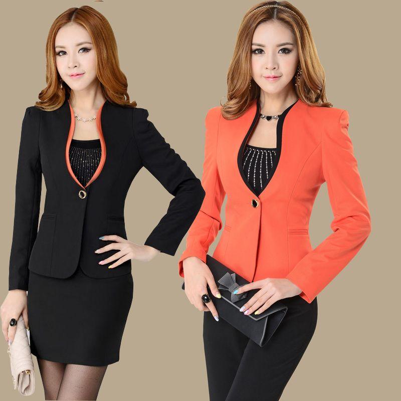 2014 Autumn Korean Office Lade Work Wear Women Fashion Suit Set