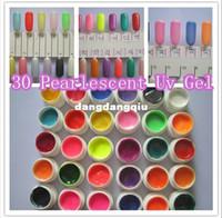 potes de gel de unhas uv venda por atacado-Atacado-frete grátis 30 x 8ml / pote cores misturadas Pearlescent Nacre Gel UV para Nail Art Beauty Care Salon Manicure