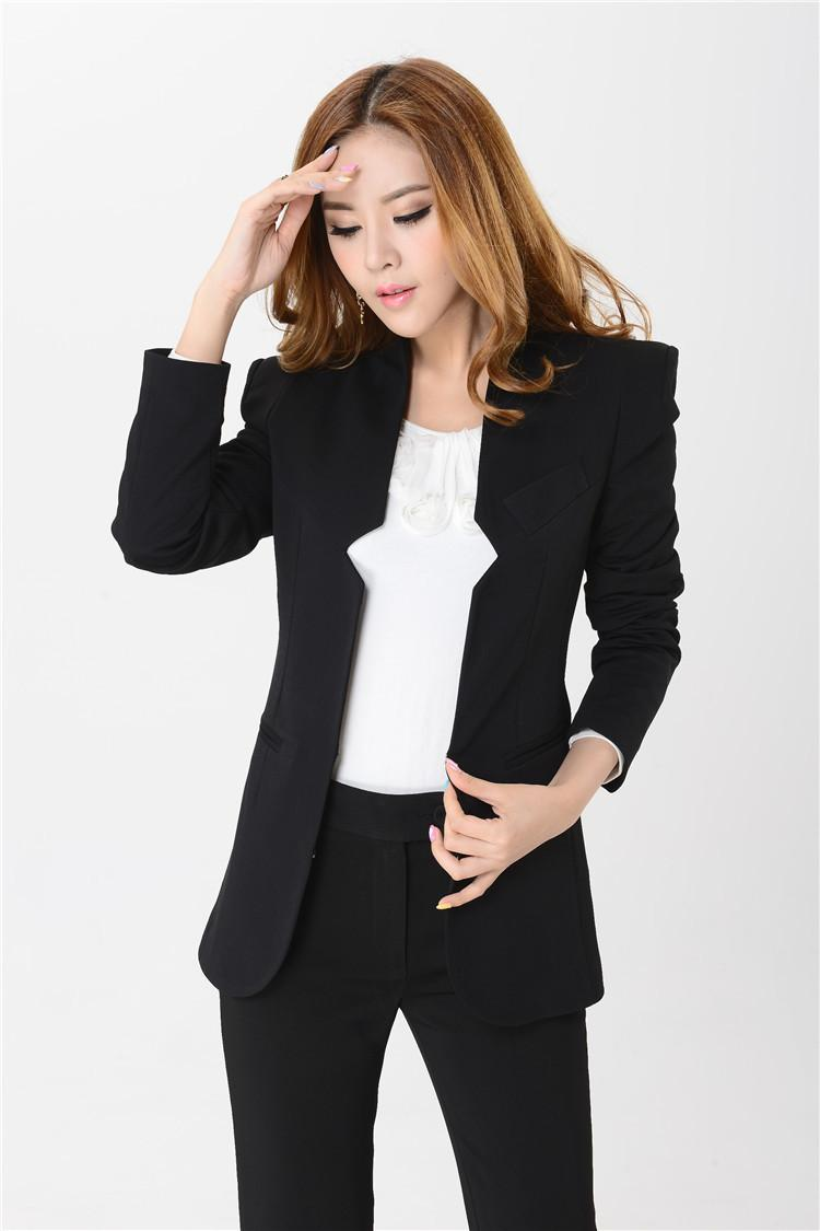2018 new 2014 fashion pant suit for women business sets