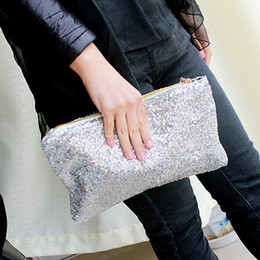 Wholesale Evening Party Handbags Purse Black - Fashion Dazzling Sequins Handbag Party Evening Bag Wallet Purse Glitter Spangle Day Clutches