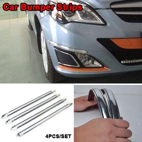 4Pcs Universal Car Body Bumper Protector Strip Guard Anti-collision CornerL nx