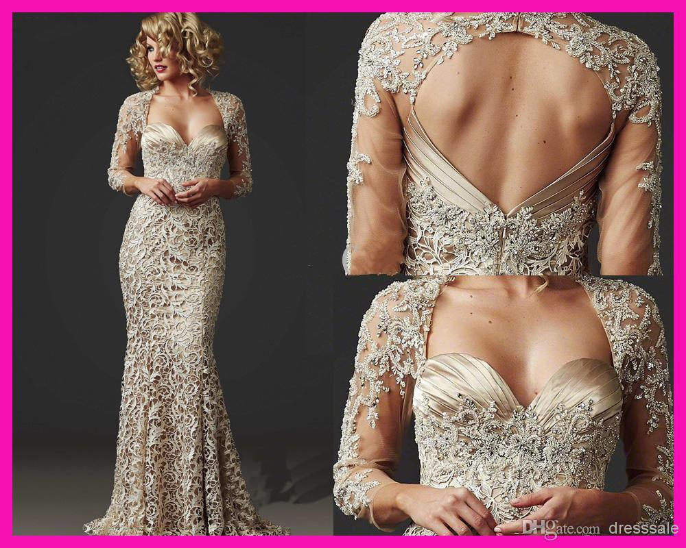 Wholesale 2014 Gorgeous Beaded Lace Mermaid Mother Of The