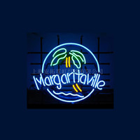 Novo MARGARITAVILLE tubo de vidro real artesanal Neon Light Beer Lager Bar Pub Sign Multiple Size 17 * 14