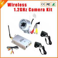 Wholesale Kit Wireless Outdoor Camera Receiver - Security System Kit Waterproof Outdoor 30LED Wireless Video Audio CCTV Color IR Home Security Camera +1.2G Wireless Receiver