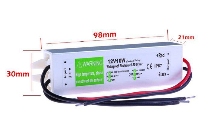 Alimentatore da 12 V 10W AC a DC Transformer Switch 3528 5050 Striscia LED CCTV impermeabile IP67 spedizione gratuita