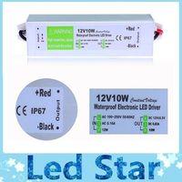 interruptor vde al por mayor-12V 10W Fuente de alimentación AC a DC Transformador para 3528 5050 LED Strip CCTV Waterproof IP67 envío gratis
