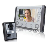 Wired 7'' 1 Camera w/ 1 Monitor Free Shipping 7 inch color video door phone Intercom Door bell Home Security Camera Monitor