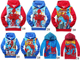 Wholesale Kid Coats Spiderman - Wholesale-spiderman Children Outerwear & coats Brand Cartoon Jackets Winter Autumn Baby Kids Hoodies boy Clothing 6p l