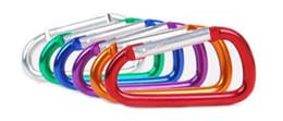 200pcs / lot mousqueton durable escalade crochet en aluminium accessoire de camping adapté pour les sports de plein air