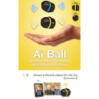 kleine mp großhandel-Großverkauf-Neuer heißer Verkauf kleinster AI Ball Mini Wifi Nocken-drahtlose Überwachung IP Kamera 10pcs / lot DHL geben Verschiffen frei