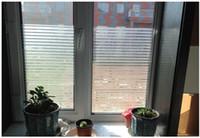 transparente aufkleberpapiere großhandel-Pure Scrub Glasfolie Fenster Aufkleber Bad ohne Kleber Vinyl halbtransparent Matt Abziehbilder explosionsgeschützte Gitter Papier